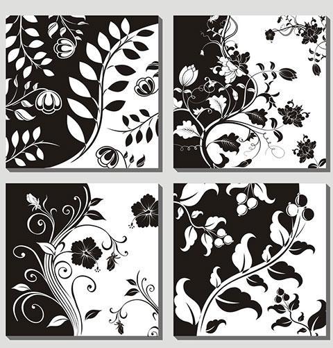 家装黑白装饰画图片欣赏