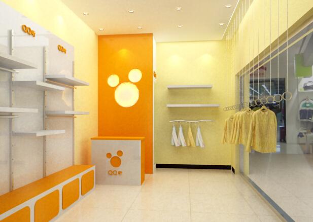 精选文章 > 经典小面积童装店装修效果图欣赏 纯白色的色调设计