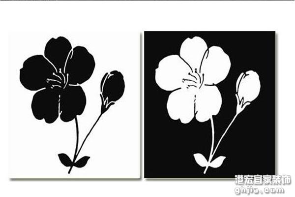 作品,风景画,水粉画,黑白装饰画图片