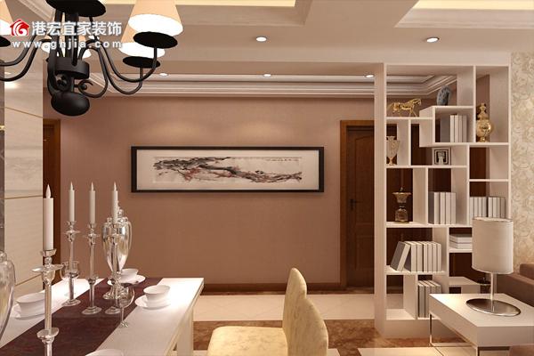 客厅隔断装修效果图赏析,重庆港宏宜家装饰真实案例