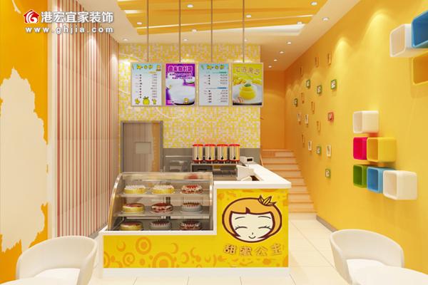 例如手绘,漫画等等,增加甜品店的休闲时尚氛围