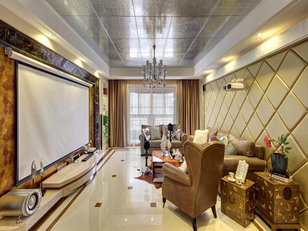 聚義香城雅郡歐式風格三室一廳裝修效果圖