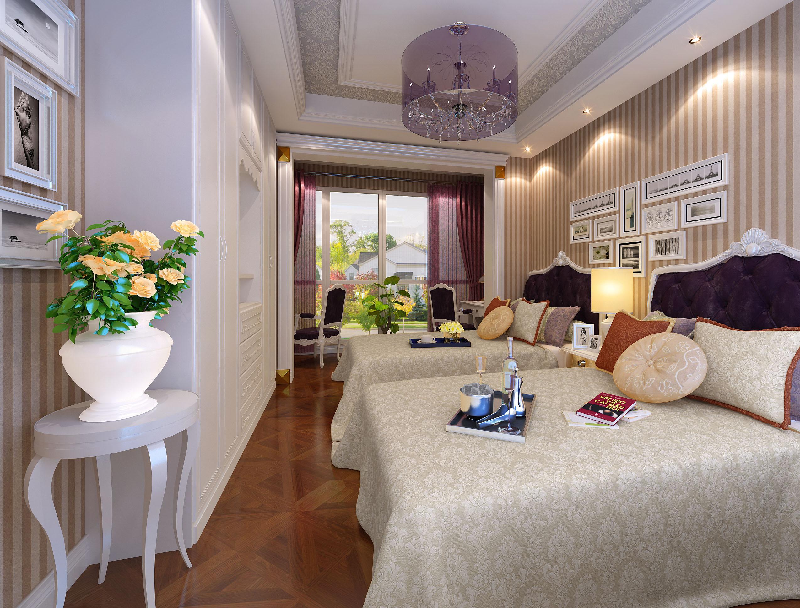 鲁能星城欧式风格三室两厅装修效果图