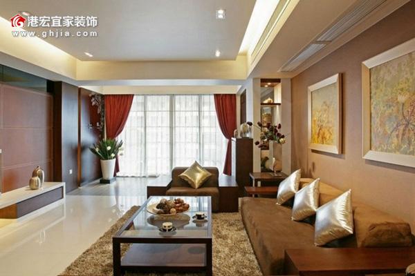 客厅空间的色彩搭配和家具摆放位置等,都深刻地影响着家居风水。如果希望客厅风水能够使家庭和睦,一起随重庆港宏宜家装饰公司小编来看看下面几条房屋装修风水学知识要诀:  客厅的主色并非风水布置的主要因素。最重要的是格局和五行的生克所达成的能量平衡。不过根据客厅相对整个住宅的方位选择正确的颜色,可有风水加分的效果。