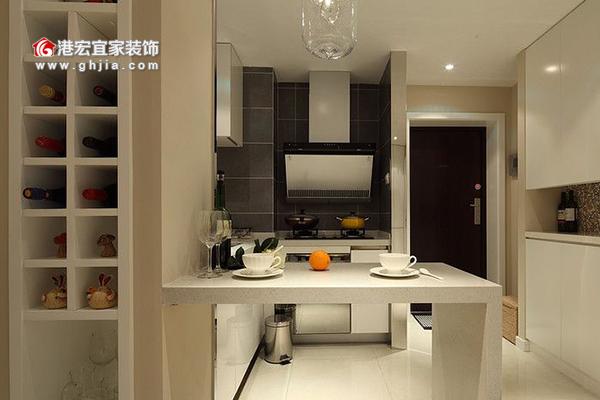 廚房裝修設計-開放式廚房效果圖