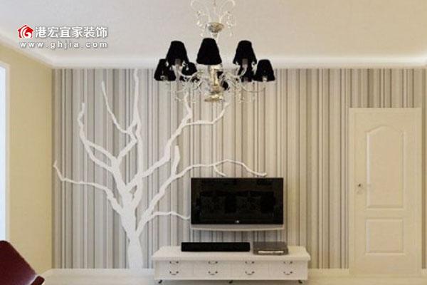 电视背景墙壁纸的设计及效果图