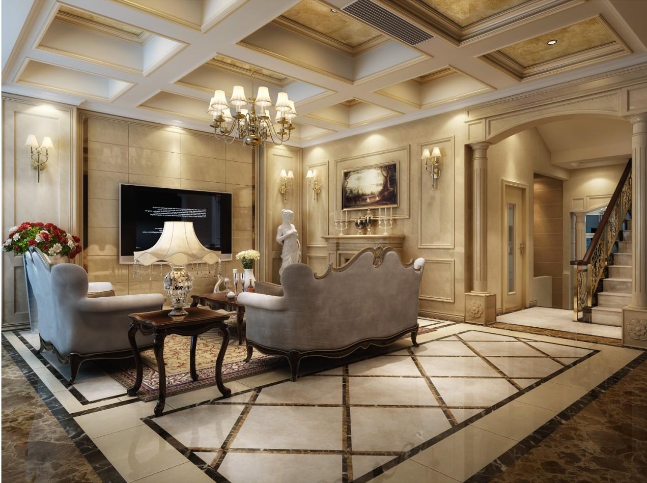 汇祥林里3000欧式风格洋房装修效果图