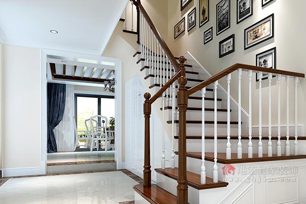 明楼梯客厅装修效果图