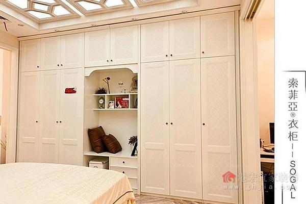 索菲亚衣柜价格        欧式索菲亚百叶移门定制衣柜:878.