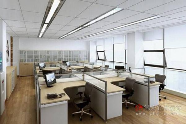 办公室装修风格——座位前方不能紧贴墙壁图片
