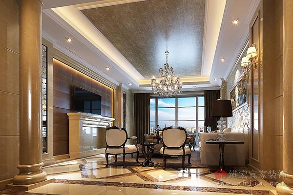 使整个空间温馨自然,所以客厅是选木地板还是地砖还要和整个的房间相