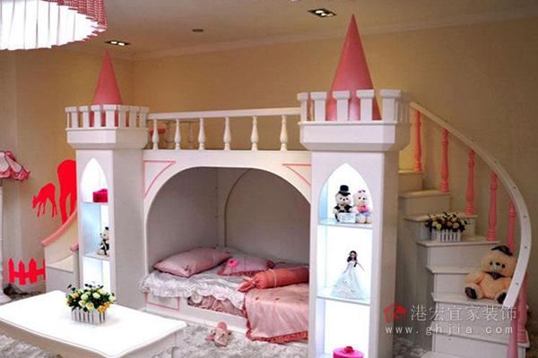 带滑梯的儿童床——小公主的城堡