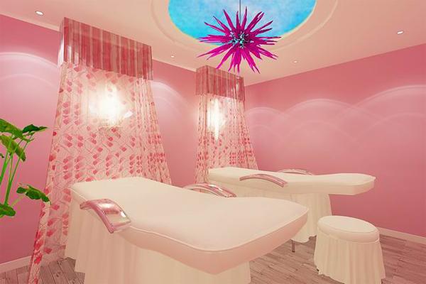 美容院采用欧式装修风格,可见老板非常的有钱,有舍才有得,店面装修